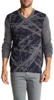 Autumn Cashmere Paint Scratch Print Cashmere Sweater
