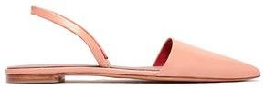 Diane von Furstenberg Koko Glossed-leather Slingback Point-toe Flats