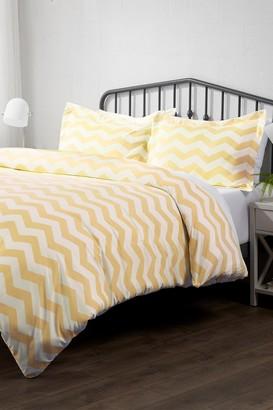 IENJOY HOME Home Spun Premium Ultra Soft Arrow Pattern 3-Piece Queen Duvet Cover Set - Yellow
