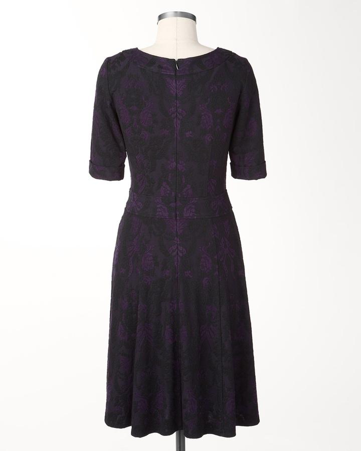 Coldwater Creek Ponte brocade dress