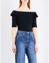 Whistles Frill off-the-shoulder jersey top