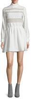 Anine Bing Mockneck Lace Insert Dress