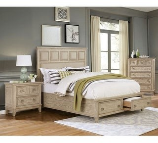 Furniture of America Flek Transitional Natural Tone 3-piece Bedroom Set