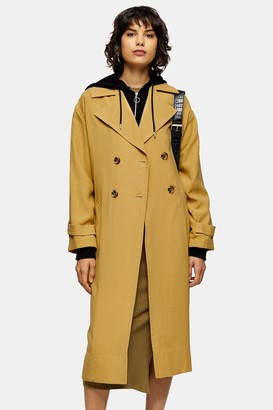 Topshop Womens Sand Trench Coat - Sand