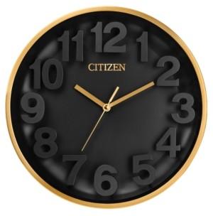 Citizen Gallery Gold-Tone & Black Wall Clock