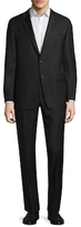 Hickey Freeman Wool Sharkskin Notch Lapel Suit