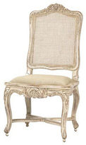 French Heritage Regence Caned Cotton Side Chair, White
