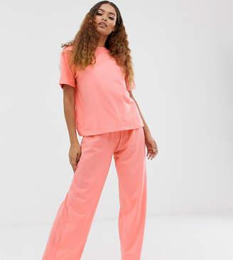 Asos DESIGN Petite mix & match pyjama trouser-Red