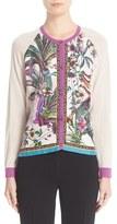 Etro Women's Print Silk Front Cardigan