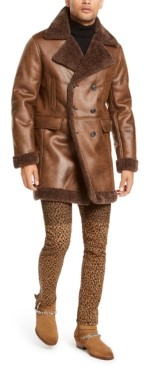INC International Concepts I.n.c. Men's Faux Suede Faux Fur Jacket, Created for Macy's