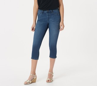 Laurie Felt Silky Indigo Denim Capri Pull-On Jeans