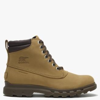 Sorel Mens Portzman Buff & Hawk Nubuck Worker Boots