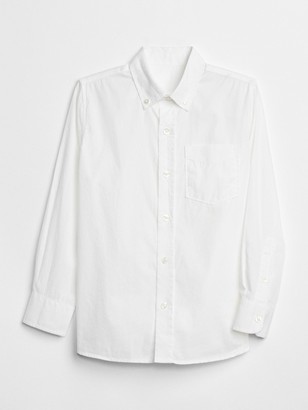 Gap Kids Uniform Poplin Long Sleeve Shirt