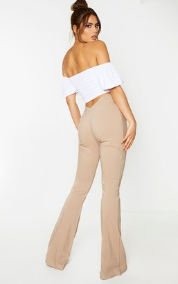 Globalle Tall Camel Low Back Waist Wide Leg Flares