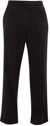 Our Legacy Reduced Straight-leg Ribbed Cotton-blend Trousers - Black