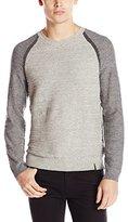 Calvin Klein Jeans Men's Uneven Budding Baseball V-Neck Sweater