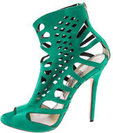 Jimmy Choo Suede Laser Cut Sandals