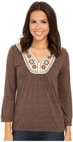 Roper 9917 Heather Jersey Peasant Top