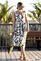 Forever 21 Tropical Leaf Print Skirt