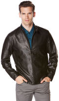 Perry Ellis Faux Leather Front Zip Jacket