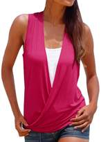 Changeshopping Women's Fashion Hot Summer Vest Top Sleeveless Shirt Casual T-Shirt (L, )