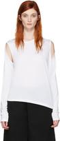 MM6 MAISON MARGIELA White Convertible T-shirt