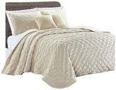 Sherry Kline Dot 3-piece King Luxury Embroidered Velvet Quilt Set, Cre