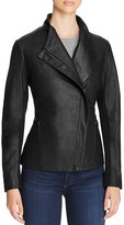 T Tahari Kelly Leather Jacket