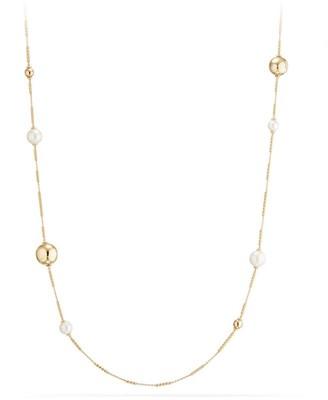 David Yurman Solari 18K Gold and Pearl Long Station Necklace