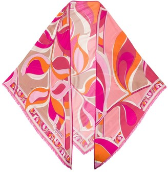 Emilio Pucci Psychedelic-Style Print Scarf