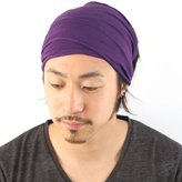 Casualbox mens Elastic Bandana Headband Japanese Long Hair Dreads Head wrap