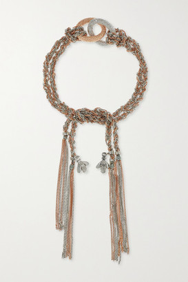 Carolina Bucci Virtue Lucky 18-karat Rose And White Gold Bracelet - Rose gold