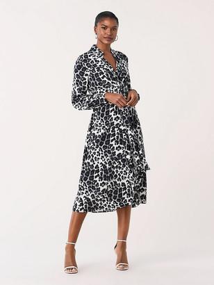 Diane von Furstenberg Donika Silk Crepe de Chine Midi Dress