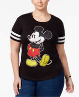 Hybrid Trendy Plus Size Mickey Graphic T-Shirt