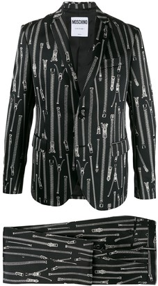 Moschino Zip-Print Suit