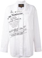 Vivienne Westwood text print shirt - women - Cotton - S