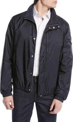 Prada Stand Collar Zip-Front Nylon Jacket