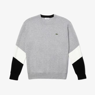 Lacoste Men's Crew Neck Colorblock Cotton Sweater