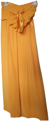 Saint Laurent Orange Viscose Trousers