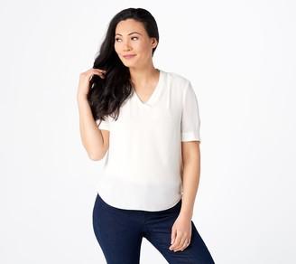 NYDJ Short-Sleeve V-Neck Charming Top