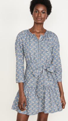 Rebecca Taylor Long Sleeve Woodblock Dress