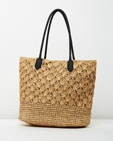 Rusty Aloha Straw Beach Bag