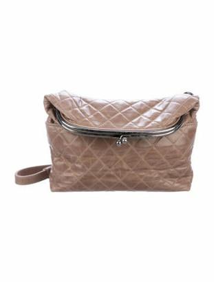 Chanel Tabatiere Foldover Kiss-lock Bag beige