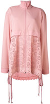 Puma perforated detail zipped coat - women - Polyester - XS