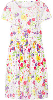 Oscar de la Renta Printed Cotton-poplin Dress - White