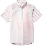 Saturdays Nyc Esquina Slim-Fit Button-Down Collar Striped Cotton Oxford Shirt