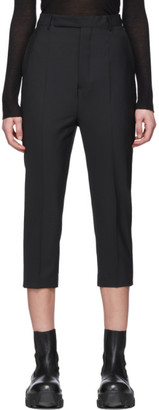 Rick Owens Black Easy Astaires Trousers