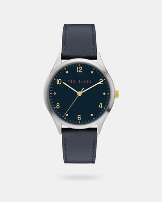 Ted Baker MANHAAE Pebble grain leather strap watch