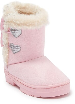 Bebe Microsuede Faux Fur Trimmed Winter Boot