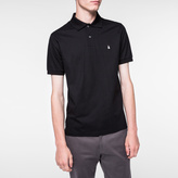 Paul Smith Men's Black Embroidered 'Ghost' Motif Polo Shirt